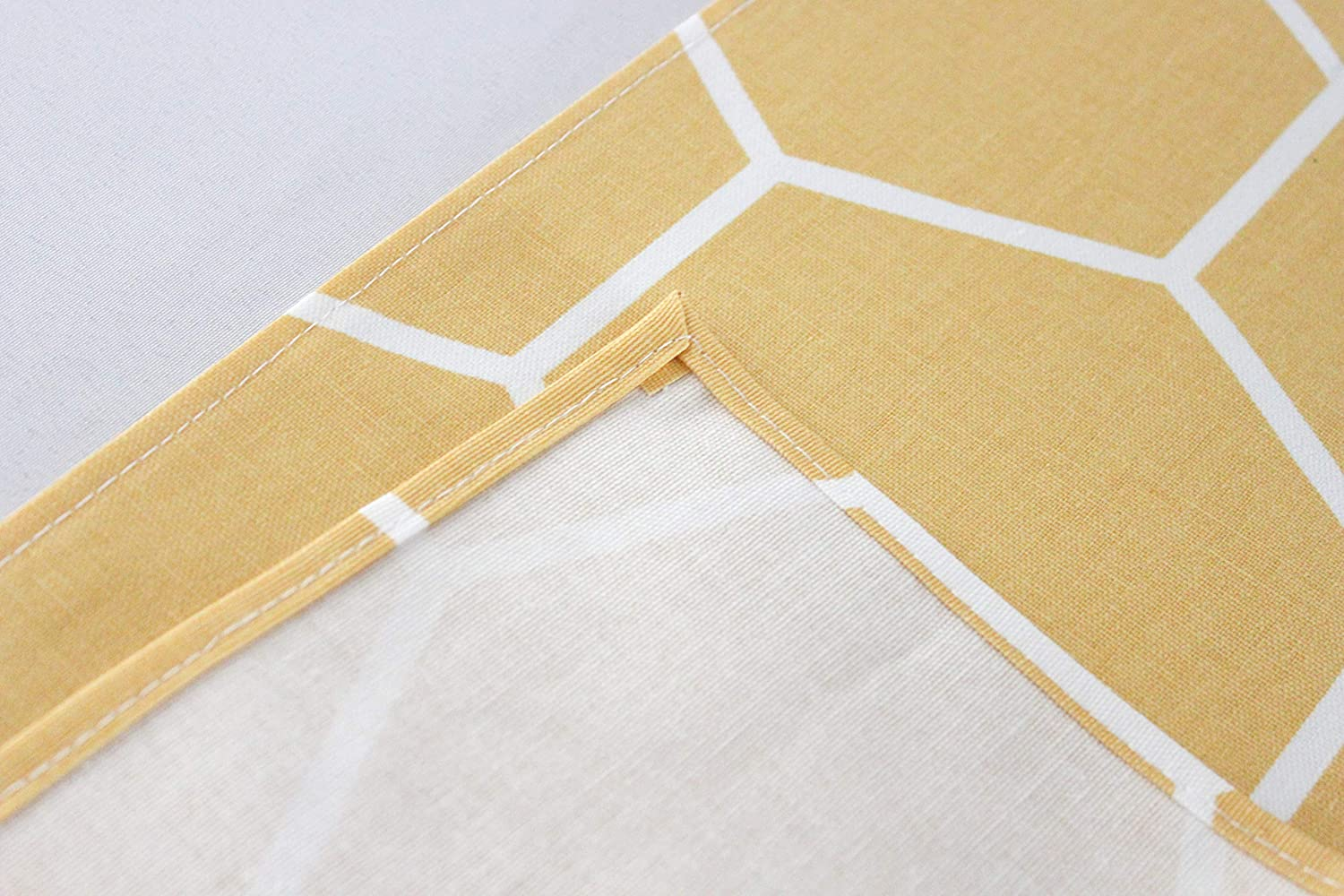 Yellow Honeycomb Bee Themed Table Runner