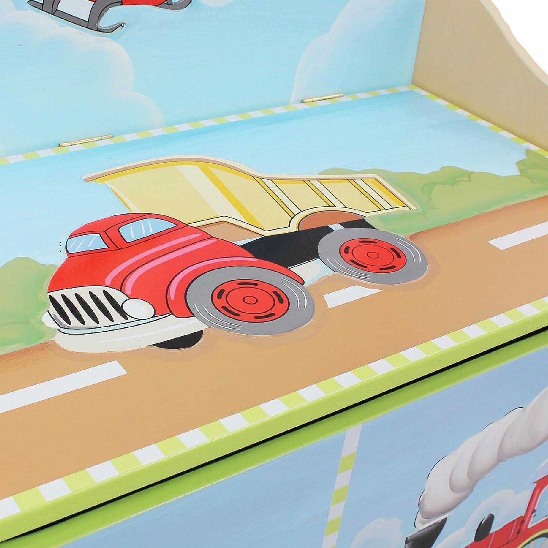 Fantasy Fields W-6338G Crackled Rose Coffre /à jouets Bois Multicolore 79,5 x 39,37 x 54,61 cm