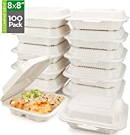 HeloGreen [100 Count] Eco Friendly to Go Containers (8