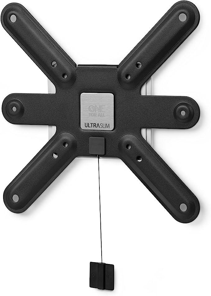 "One For All - WM6211, Soporte de pared para TV de 13 a 42"", fijo, peso máx. 40kg, para todo tipo de TVs (LED, LCD y plasma), negro"