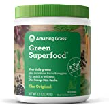 Amazing Grass Green Superfood: Organic Wheat Grass and 7 Super Greens Powder, 2 servings of Fruits & Veggies per scoop, Original Flavor, 30 Servings