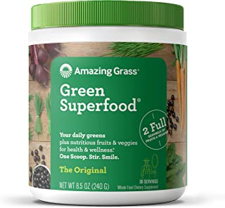 product image for Amazing Grass Green Superfood: Super Greens Powder with Spirulina, Chlorella, Digestive Enzymes & Probiotics, Original, 30 Servings