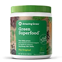 Amazing Grass Green Superfood: Super Greens Powder with Spirulina, Chlorella, Digestive...