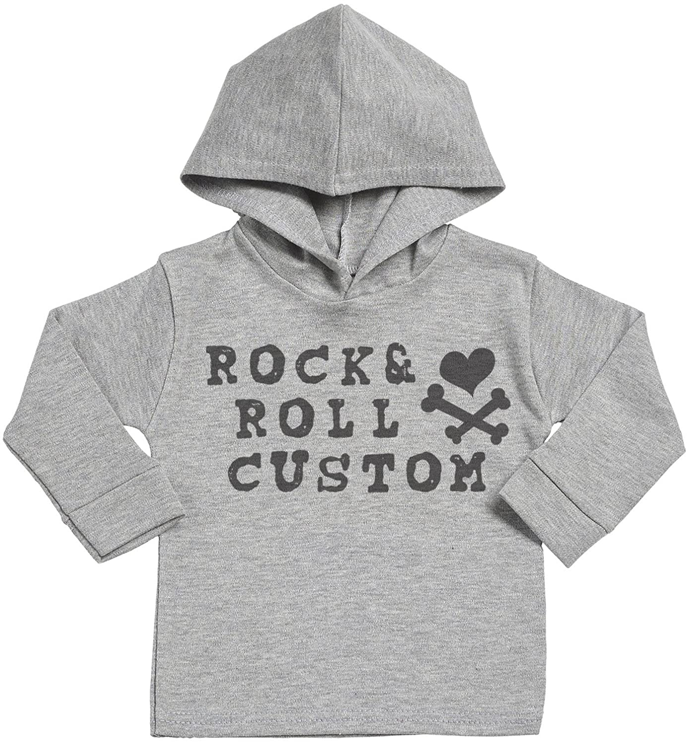 SR Personalised Baby Clothing Personalised Rock And Roll Custom Baby Cotton Baby Hoodie Personalised Baby Gift