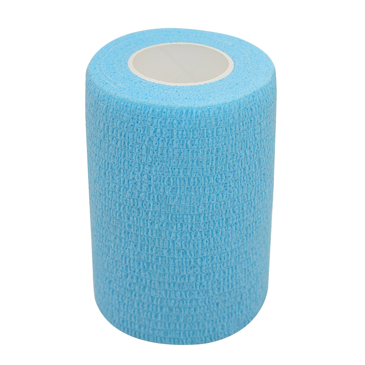 COMOmed Self Adherent Cohesive Bandage Latex FDA Approved 3''x5 Yards First Aid Ace Bandages Stretch Sport Athletic Wrap Vet Tape for Wrist Ankle Sprain and Swelling,Light Blue(6 rolls) by COMOmed