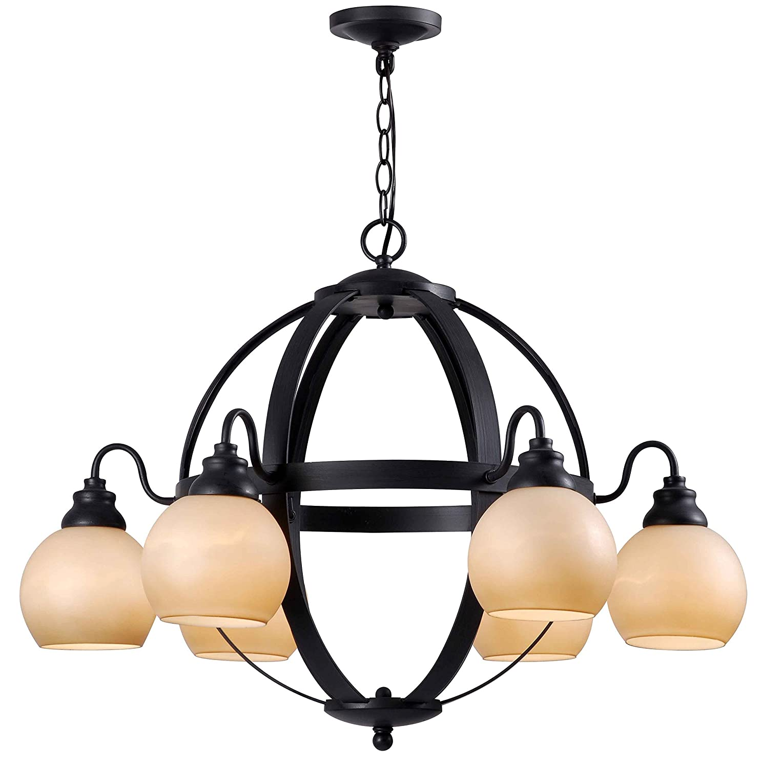 World Imports Lighting 5272 42 Magellen 6 Light Globe Chandelier