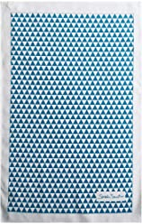 Sarah Smith Tea Towel | Blue Triangles | 100% Cotton | Includes Hanging Loop