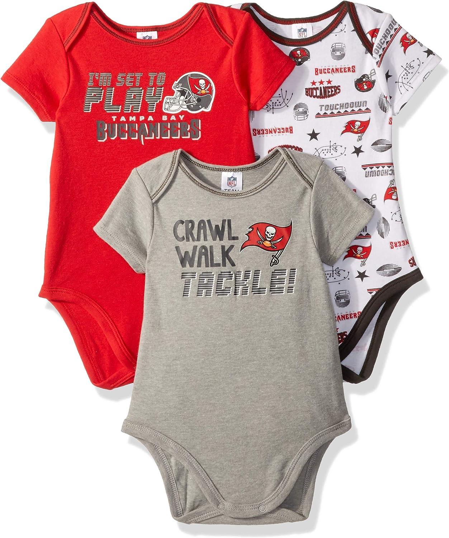 NFL NFL Baby-Boy 3 Pack Short Sleeve Variety Bodysuit: Clothing
