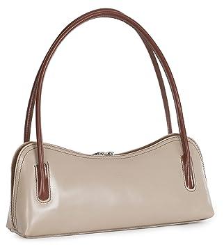 Petit sac à main d'épaule pour sortie/soirée en autentique cuir italien - 'Arya' par LiaTalia(Rouge - Bords noirs) 0Vs6wsd