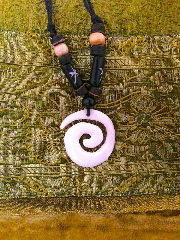 Antikas - Collar con Colgante Koru - talismán Hecho a Mano ...