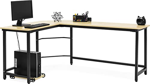 Best Choice Products Modern L-Shaped Corner Desk w/CPU Stand