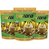 Barnana Organic Chewy Banana Bites, Peanut Butter, 3.5 Ounce (Pack of 3)