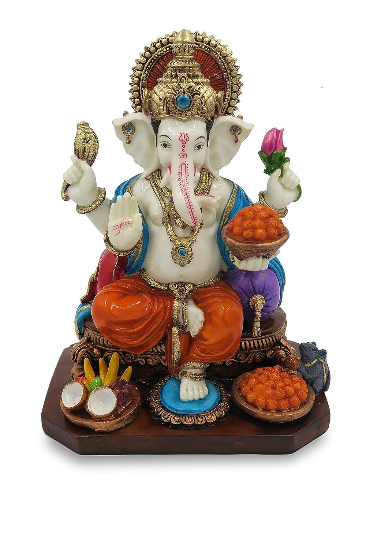 Ganesh Statue 13 Inches - Hindu Elephant God Ganpati - Lord Ganesha idol | Murti | Figurine