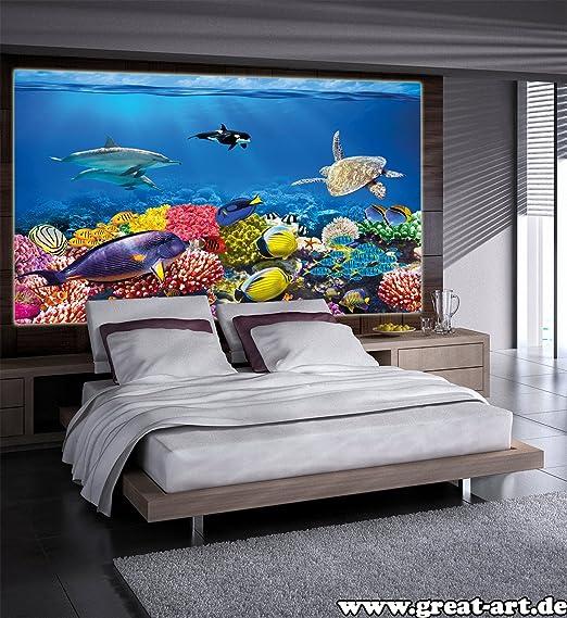 Poster Kids Room Aquarium Mural Decoration Underwater World Sea ...
