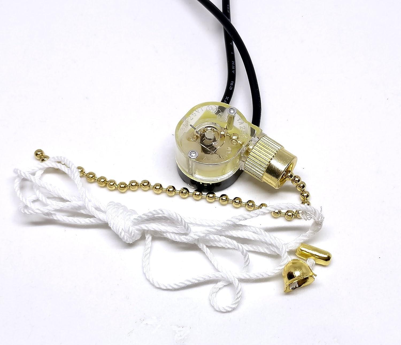 Zing Ear ze-109 Pull Cadena Interruptor Luz Lámpara Ventilador de techo Canopy: Amazon.es: Bricolaje y herramientas