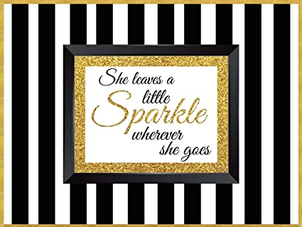 """SHE LEAVES A LITTLE SPARKLE WHEREVER SHE GOES Girls Quote Wall Decal Words 48/"""""""