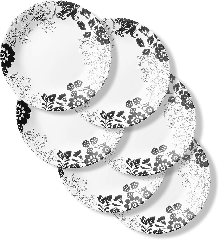 Corelle Chip Resistant Appetizer Plates, 6-Piece, Uptown Garden