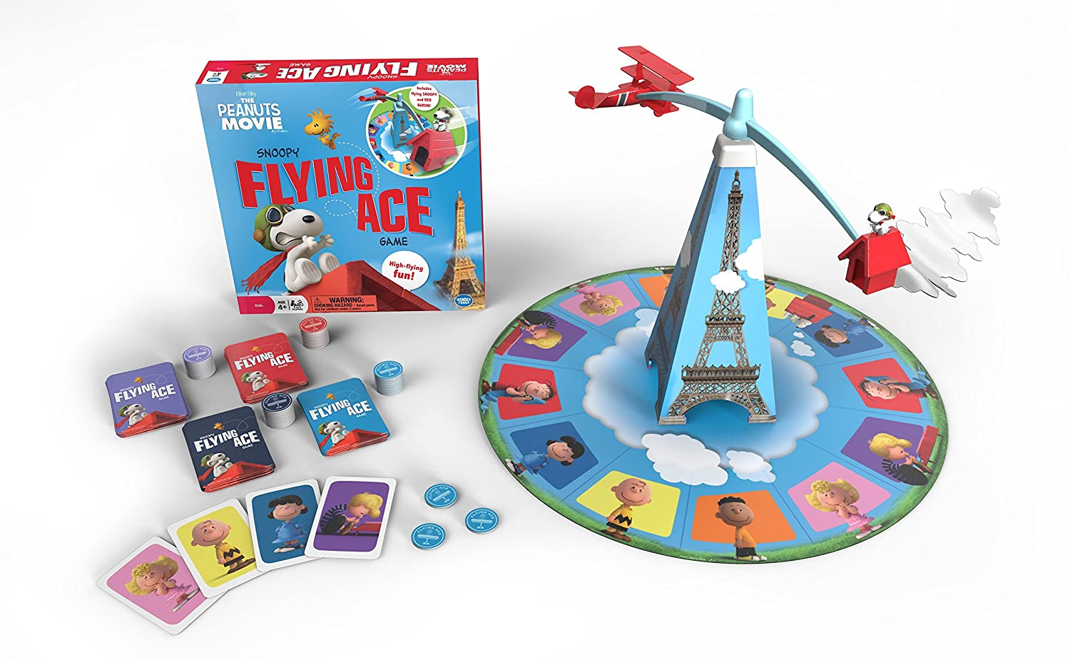 The Wonder Forge Peanuts Movie Flying Ace Game Board Game 1362