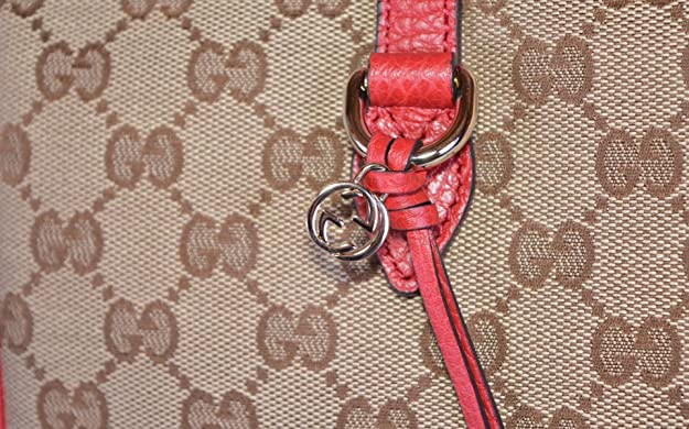 5a5335fed Gucci Women's 449242 Large Bree GG Guccissima Purse Handbag Tote (Beige/Red):  Amazon.ca: Shoes & Handbags