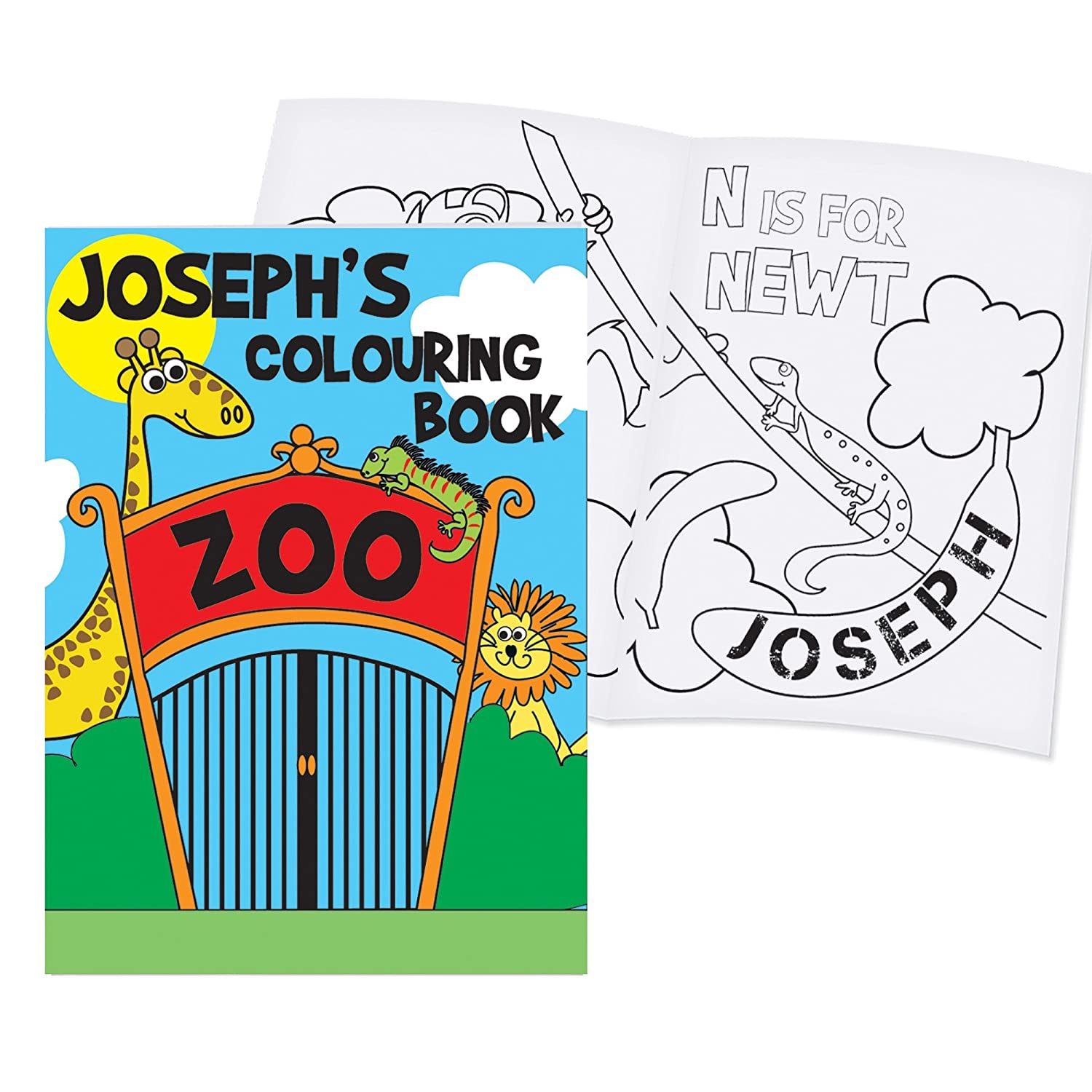 personalised colouring books zoo amazon co uk kitchen u0026 home