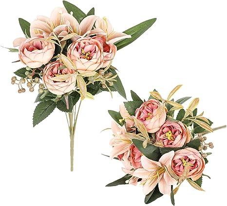 5 pcs Artificial Chrysanthemum Golden thread tarot  artificial flower Artificial pink Mum Bush flower arrangement flower for bouquet
