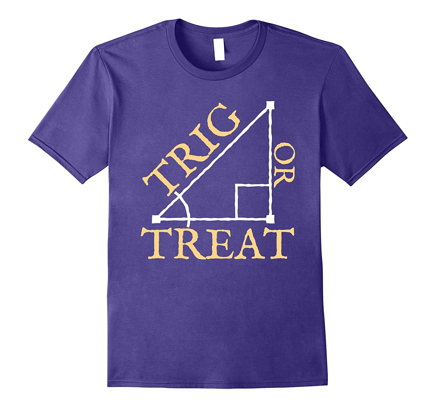 Trig Or Treat Trigonometry Math Teacher Halloween Shirt-FL