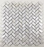 Genuine Natural Mother of Pearl Oyster Herringbone Shell Mosaic Tile with Backing for Kitchen Backsplashes, Bathroom Walls, Floor Tile, Spas, Pools By Vogue Tile