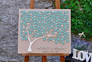 Amazon De Custom Hochzeit Gastebuch Alternative Baum 3d Holz