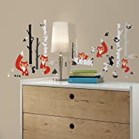 RoomMates Fox Forest Peel and Stick Wall Decals,