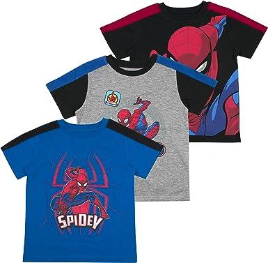 Marvel Boys 3-Pack Spiderman T-Shirt