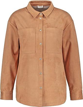 Gerry Weber Camisa de mujer de ante sintético casual. beige L ...