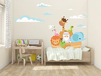 Noahu0027s Ark With Animals Wall Decals For Children Sunday School Class    WDSET10090 Part 72