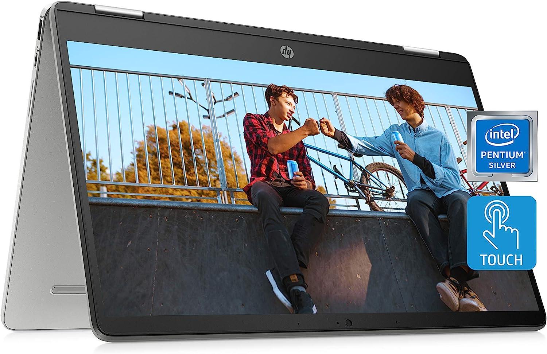 HP Chromebook x360 14a 2-in-1 Laptop, Intel Pentium Silver N5000 Processor, 4 GB RAM, 64 GB eMMC, 14