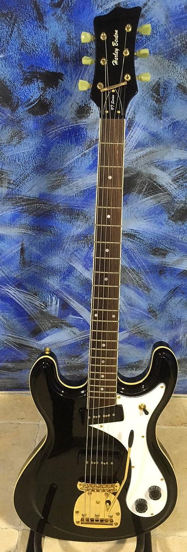 Guitarra eléctrica Harley Benton mr-63 Black Baritone tipo ...