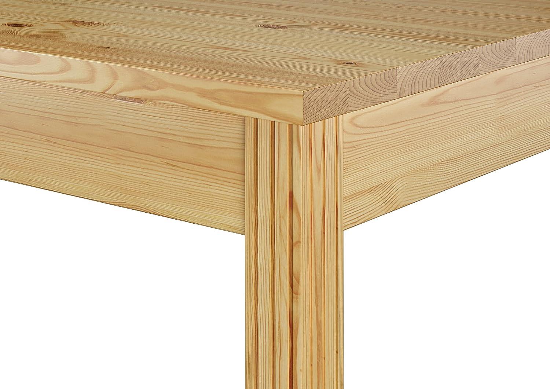 Erst Holz® Schmaler Esszimmertisch aus Kiefer Massivholz