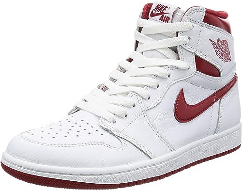 Jordan Nike Men's Air 1 Retro High OG WhiteVarsityRed