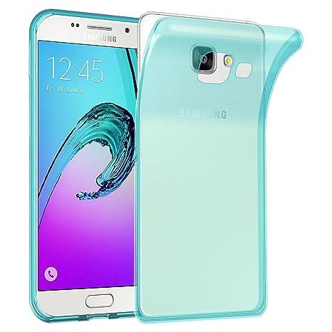 Cadorabo Funda para Samsung Galaxy A3 2016 en Transparente AZÚL – Cubierta Proteccíon de Silicona TPU Delgada e Flexible con Antichoque – Gel Case ...