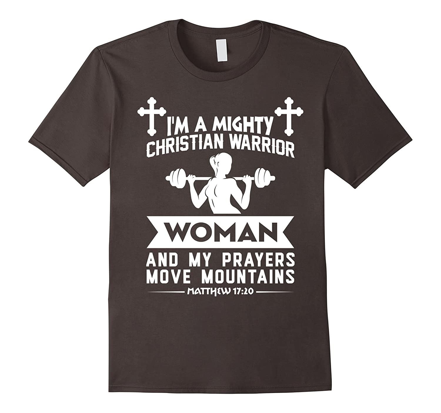Christian Warrior Women Prayers Move Mountains Cross T-Shirt-CD