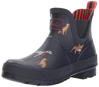 Tom Joule Joules Damen X_Wellibob Gummistiefel, Blau (French Navy Cosy  Dogs), 36