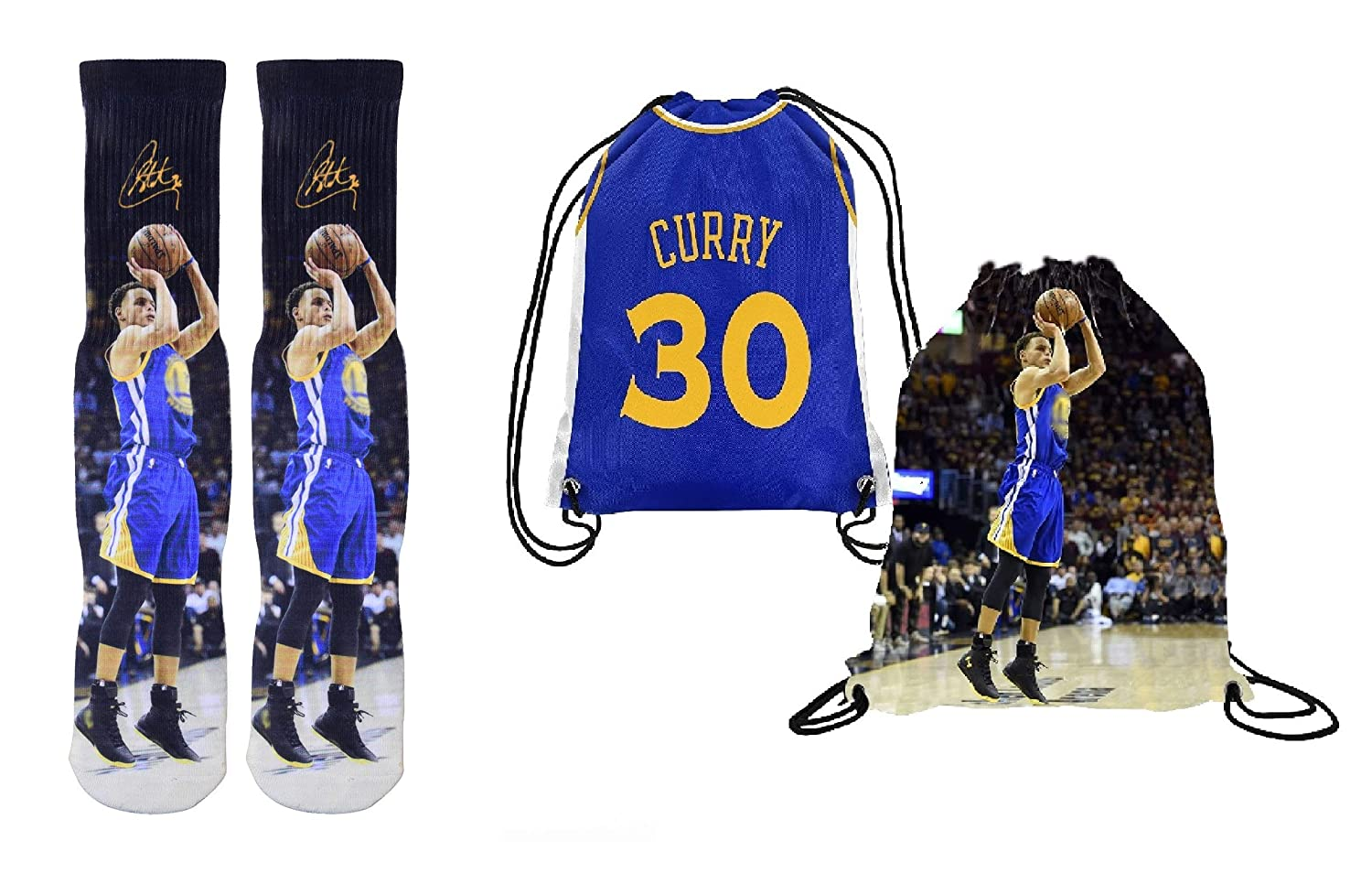d2c526db9dad Amazon.com   Forever Fanatics Curry 30 Ultimate Basketball Fan Gift Set  Bundle ✓ Curry 30 Crew Socks Sizes 6-13 ✓ Gift Packaging in Curry 30  Picture ...