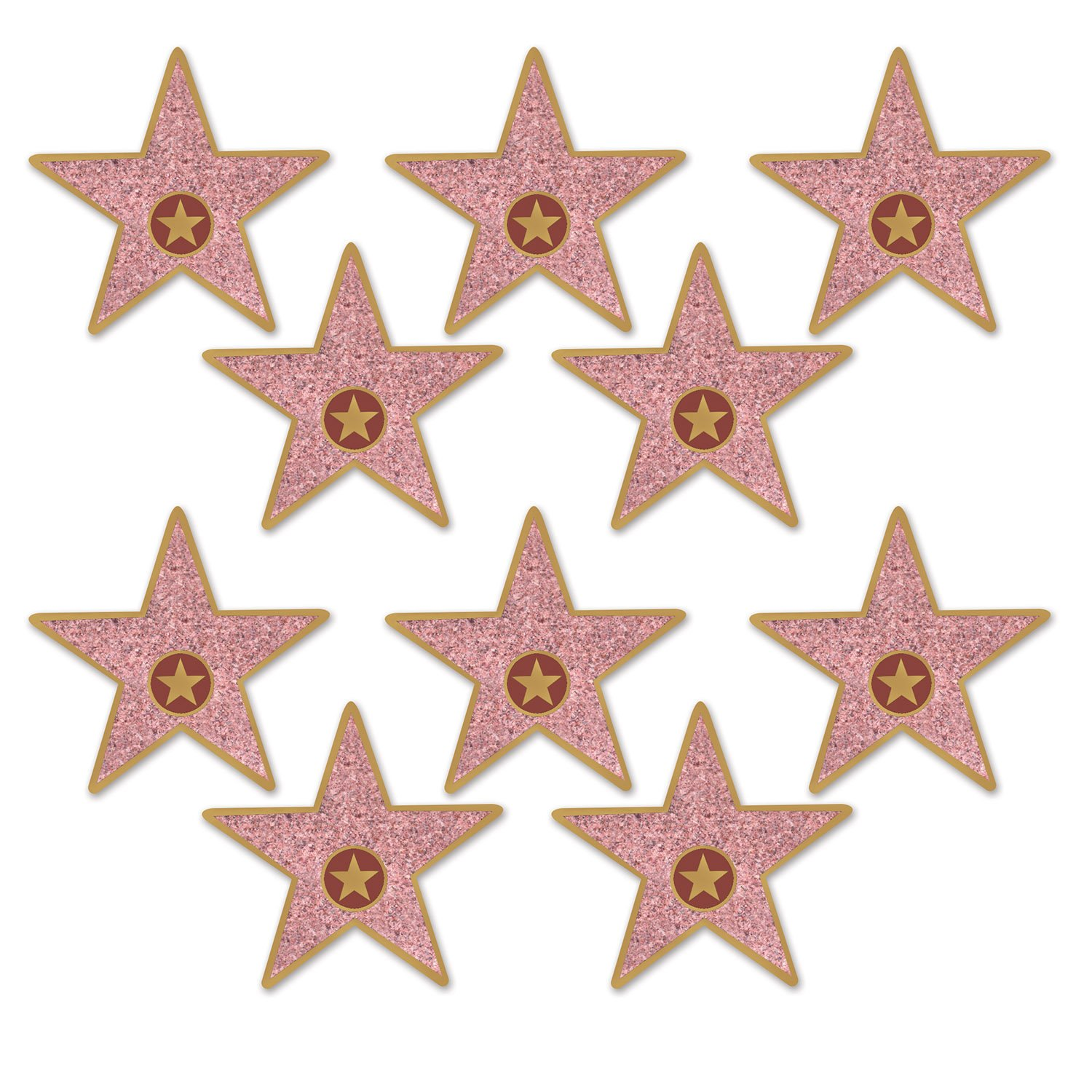 "Beistle Mini Star Cutouts, 5"", Multicolor"