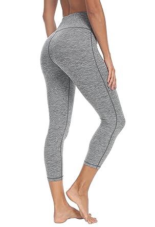 "4aed797d88be4 Queenie Ke Women 22"" Yoga Capris Power Flex Height Waist Running Pants  Workout Tights Legging"
