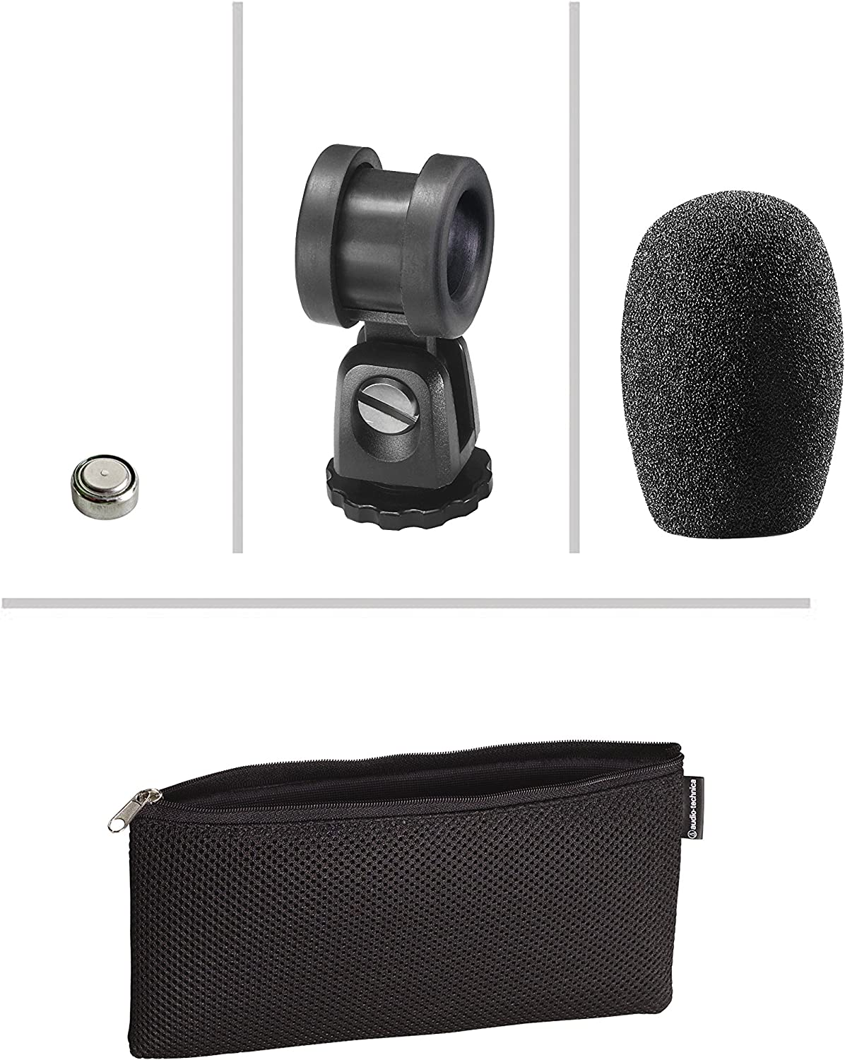 Audio-Technica PRO 24-cm Lightweight On-Camera Microphone with Windscreen Protective Pouch Cleaning Kit and 1-Year Extended Warranty