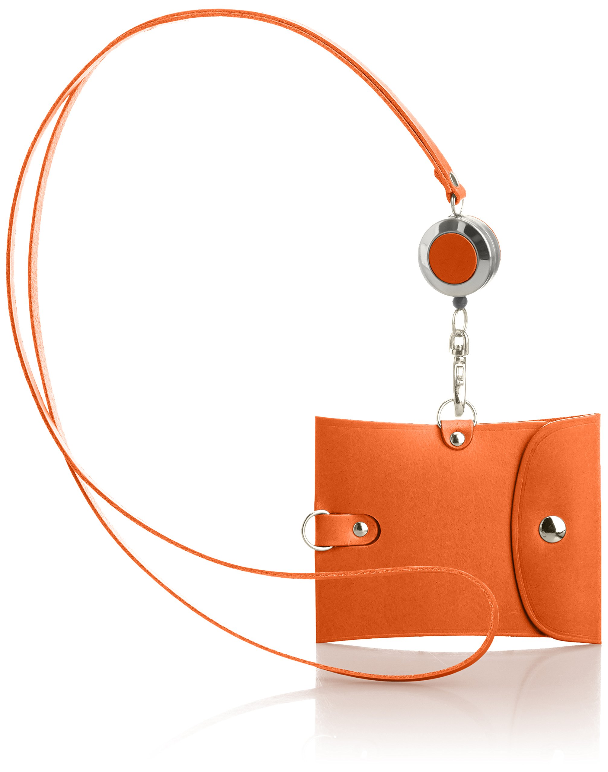 Vintage Revival Productions Pass Holder with reel 59218 Orange by Vintage Revival Productions