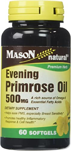 Mason Vitamins Evening Primrose Oil 500 mg Softgels, 60 Count