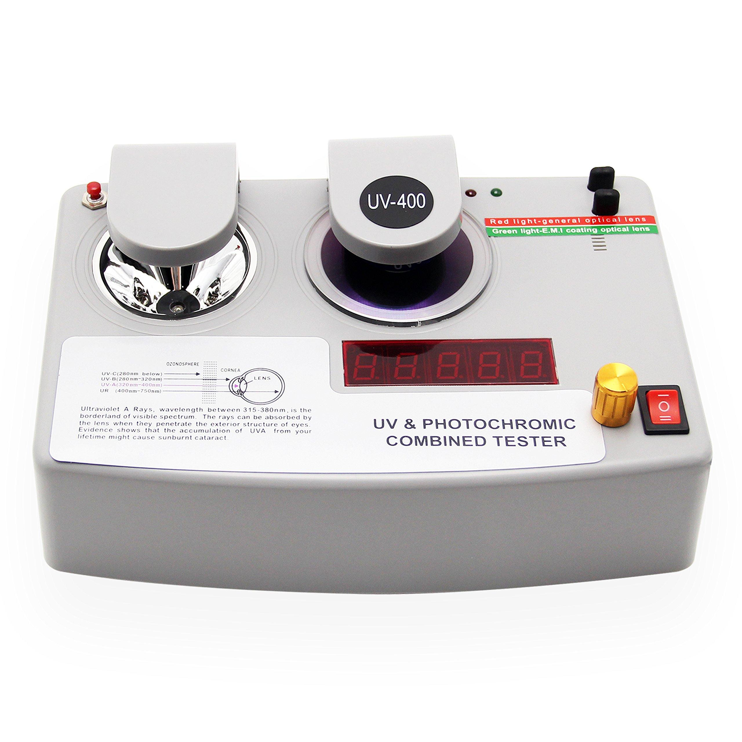 Huanyu Photochromic Coating UV Lens Tester Detector Measurer Lens Testing Machine 3 Function in 1 Set