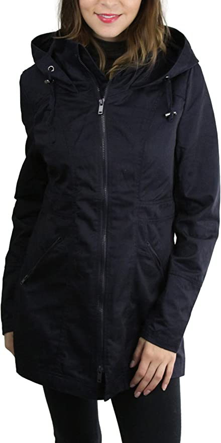 ToBeInStyle Women/'s Long Sleeve Cinched Waist Anorak Jacket