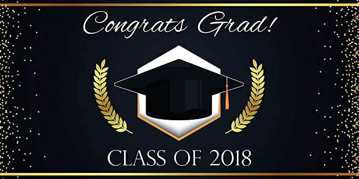amazon com personalized graduation banner graduation party banner