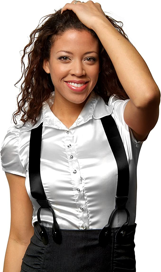 8 Colors 4 Designs Suspenders Men Fancy Solid Designed Silk Satin Button End