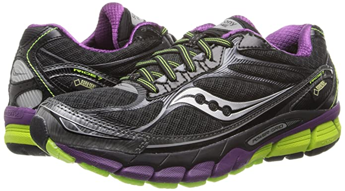 SAUCONY Ride 7 GTX Ladies Running Shoe, BlackPurple, UK8